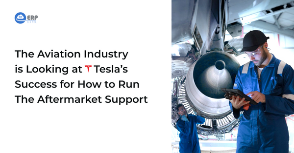 Aircraft aftermarket support by Tesla