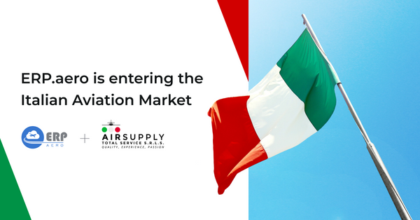 ERP.aero is entering the Italian Market